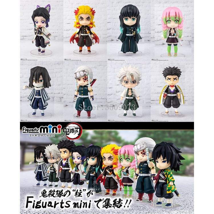 ตุ๊กตาการ์ตูน   9cs/set Demon Slayer Anime Figure Rengoku Kyoujurou Kochou Shinobu VC Action Figure Toys Kimetsu no Yaib