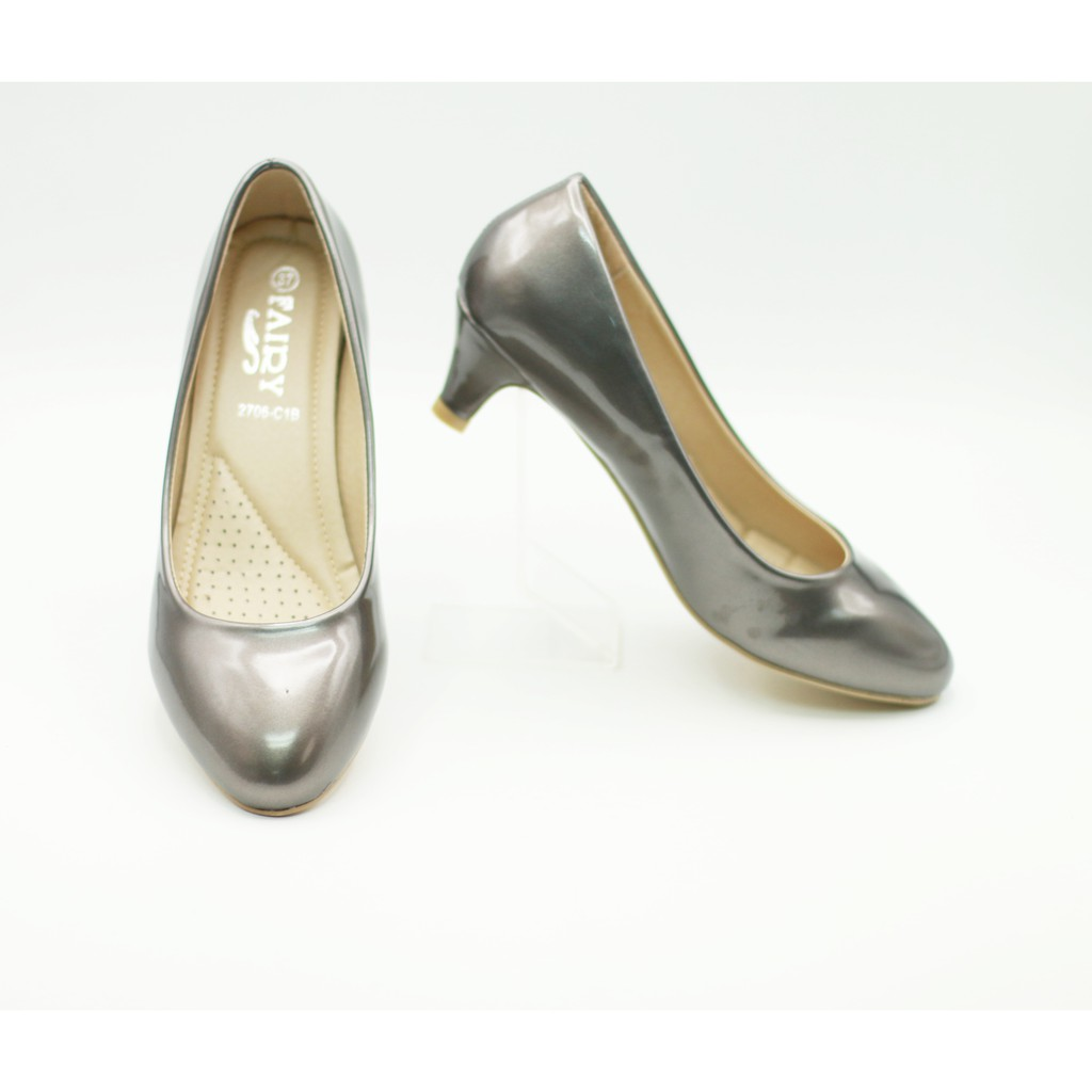 รองเท้า 2706-C1B รองเท้าผู้หญิง รองเท้าคัชชู ส้นสูง แฟชั่น 2 นิ้ว FAIRY รุ่น 2706-C1B