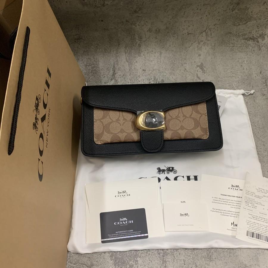 Coach กระเป๋าสะพายไหล่ผ้าแคนวาส 26 สําหรับเด็ก 91215