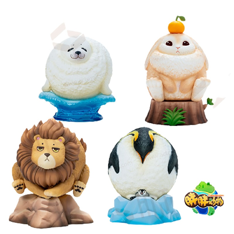Blind Box 4 Style Anime Figure Model Toys Fat Animal Series Surrise Random VC Figurine Garage Kit Gift