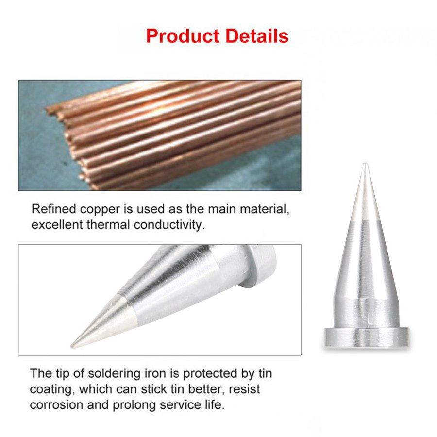 10Pcs Solder Iron Tips for Weller WSD81 WSP80 WD1000 WP80 LT Soldering Iron Tip