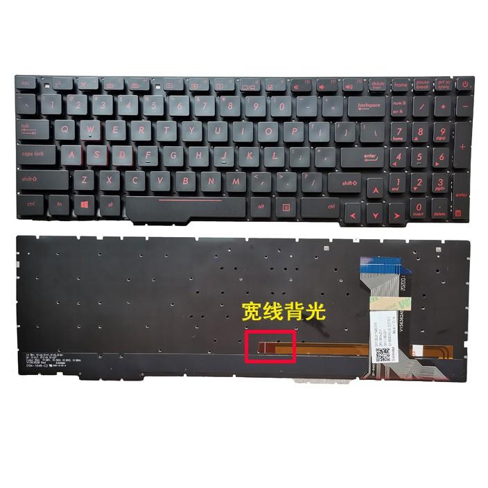 notebook keyboard New for ASUS FX53VE FX553VD FX53VD FX753 FX60 FX53VE ZX53V ZX73 GL553VW  GL753  laptop keyboard US version with back light backlit