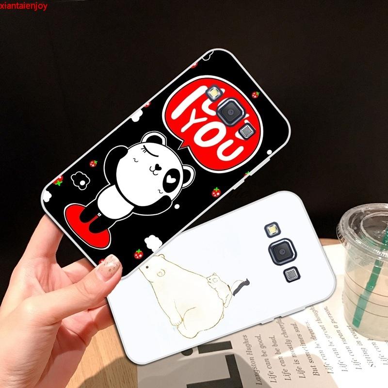 Samsung A3 A5 A6 A7 A8 A9 Star Pro Plus E5 E7 2016 2017 2018 Panda Soft Silicon TPU Case Cover