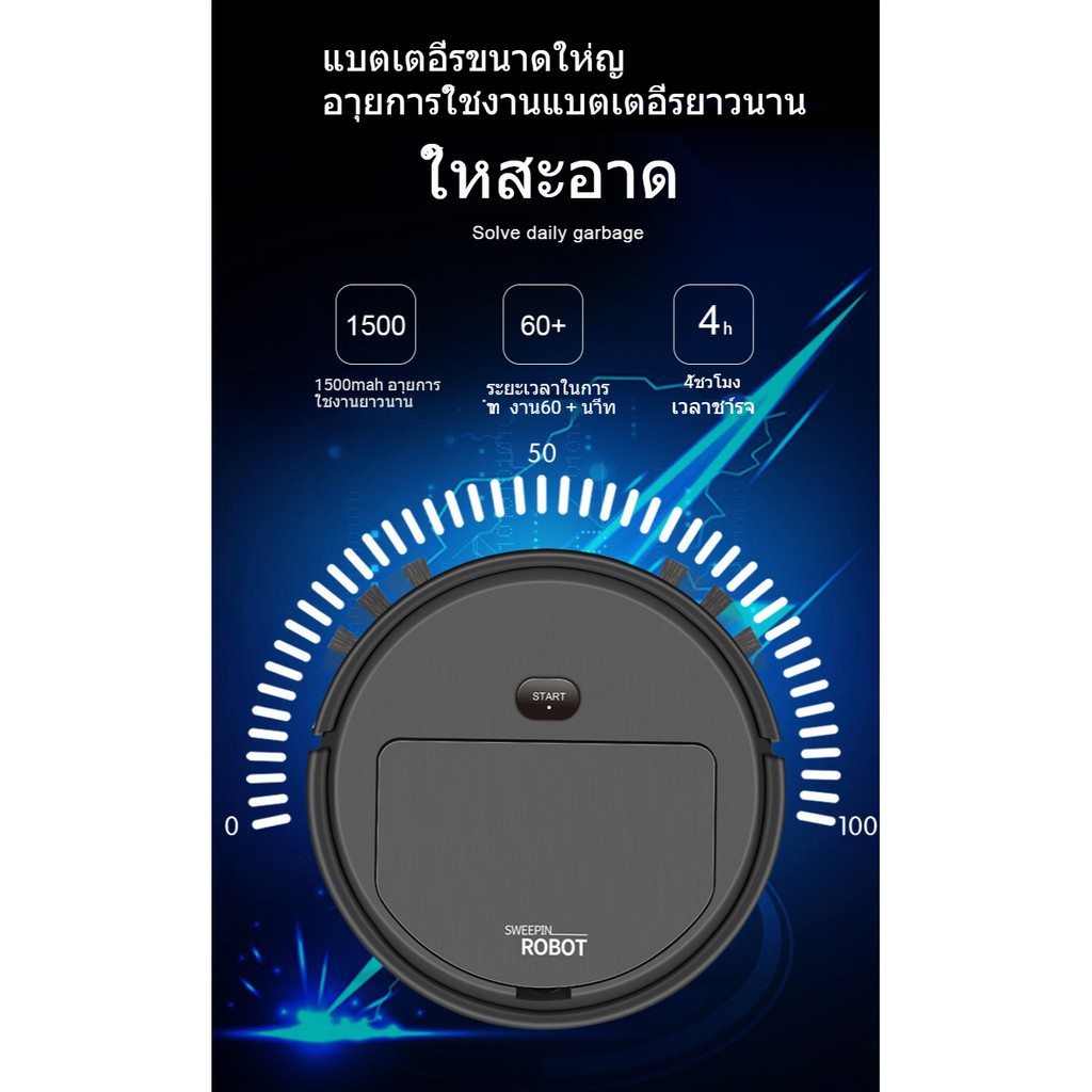 【COD】g◇♈✠หุ่นยนต์ดูดฝุ่น ชาร์จ USB สามในหนึ่ง ,  เครื่องกวาดฝุ่น อัตโนมัติ เครื่องถูพื้น สะอาด ชาร์จแบตได้ S0035
