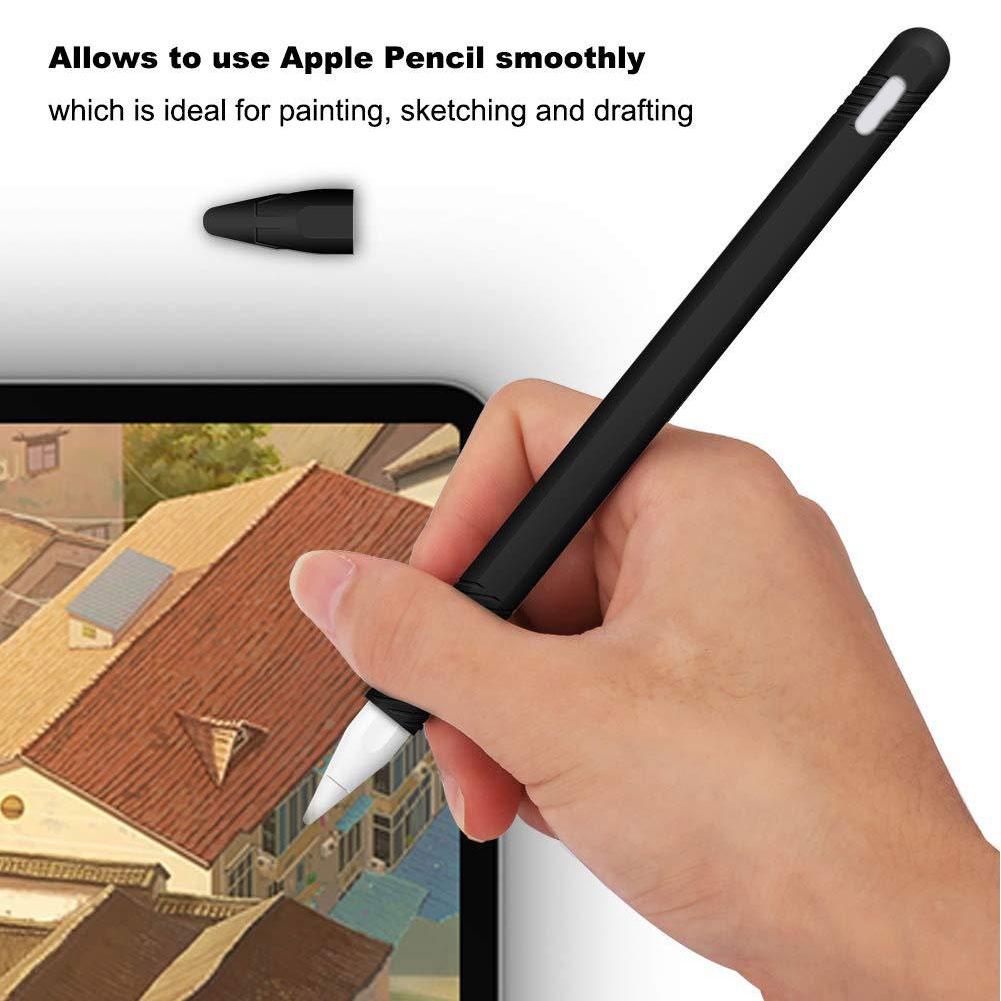 Pencil Case Accessories Anti Lost Portable Scratch Proof Silicone For Apple 2