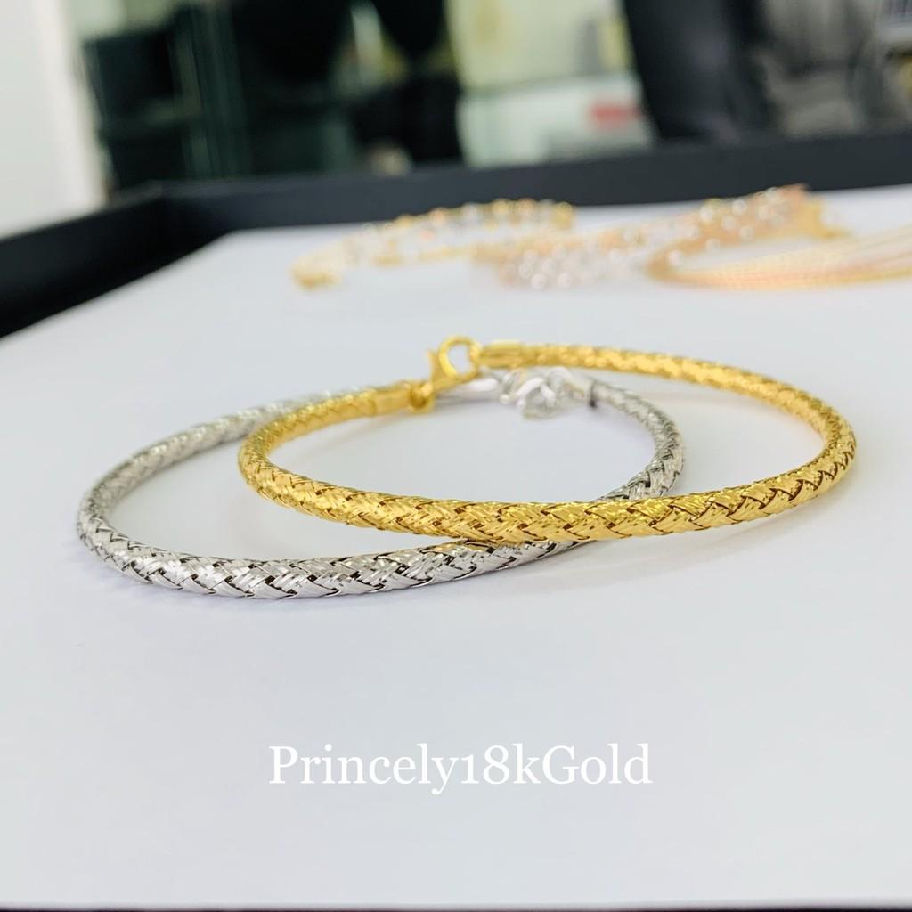 Princely กำไลข้อมือทองเคแท้ 18K (นำเข้าจากอิตาลี)