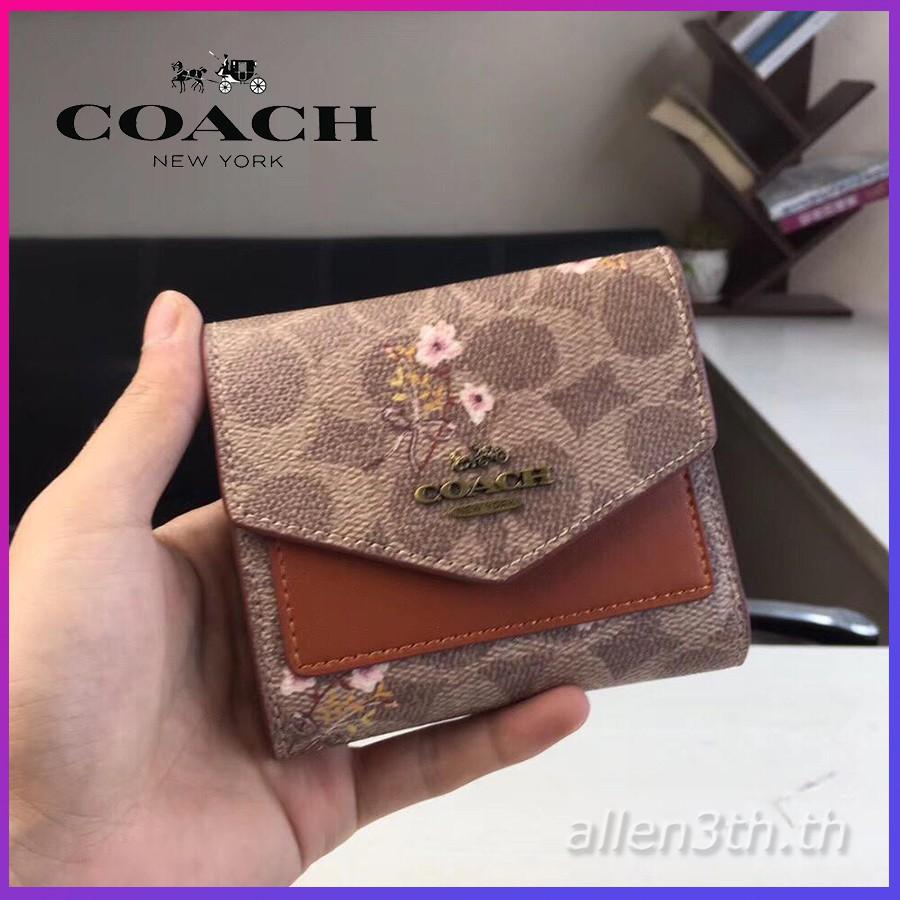 กระเป๋าสตางค์ Coach แท้ F67246 กระเป๋าสตางค์ผู้หญิง * กระเป๋าสตางค์ใบสั้น * กระเป๋าสตางค์บัตร