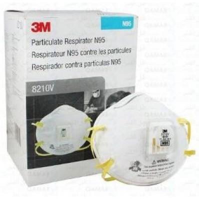 3M Particulate Respirator 8210V N95 (กล่อง10ชิ้น)