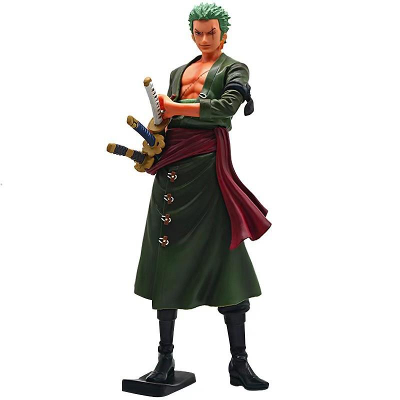 One iece 18cm Anime Figure Roronoa Zoro Threeblade Sa maximum Manga Anime Statue VC Action Figure Collection Model gift