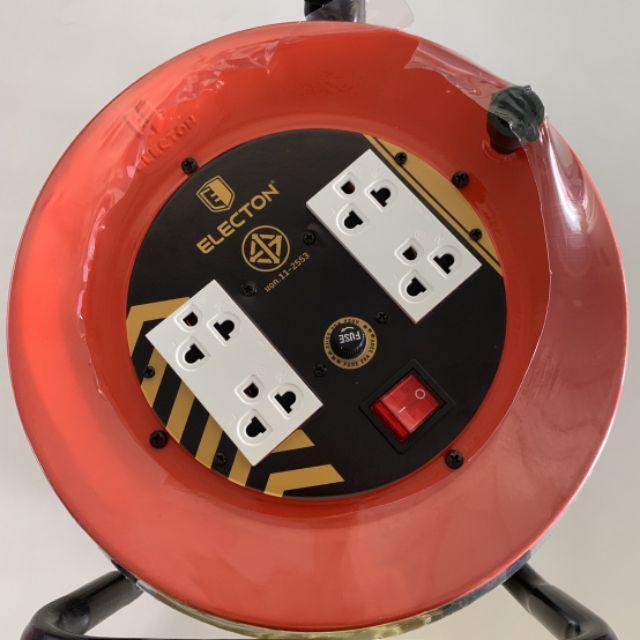 ล้อเก็บสายไฟ ล้อปลั๊กไฟ ปลั๊กไฟแบบล้อ Electon สายไฟ 2x2.5 ยาว 30 เมตร