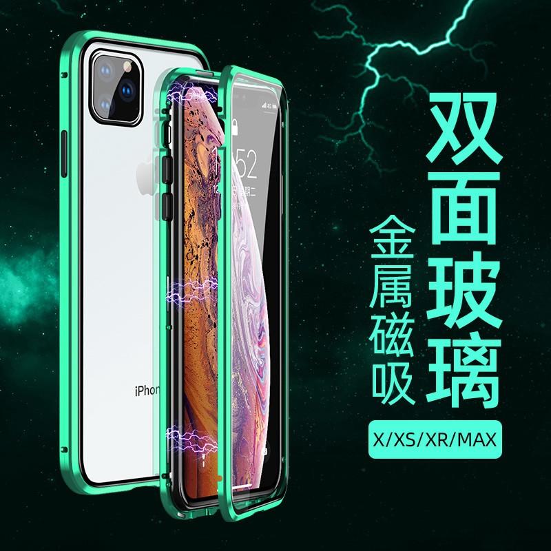 เคสโทรศัพท์มือถือแบบสองด้านสําหรับ Iphone X Xr Xs Max 11 Pro Max