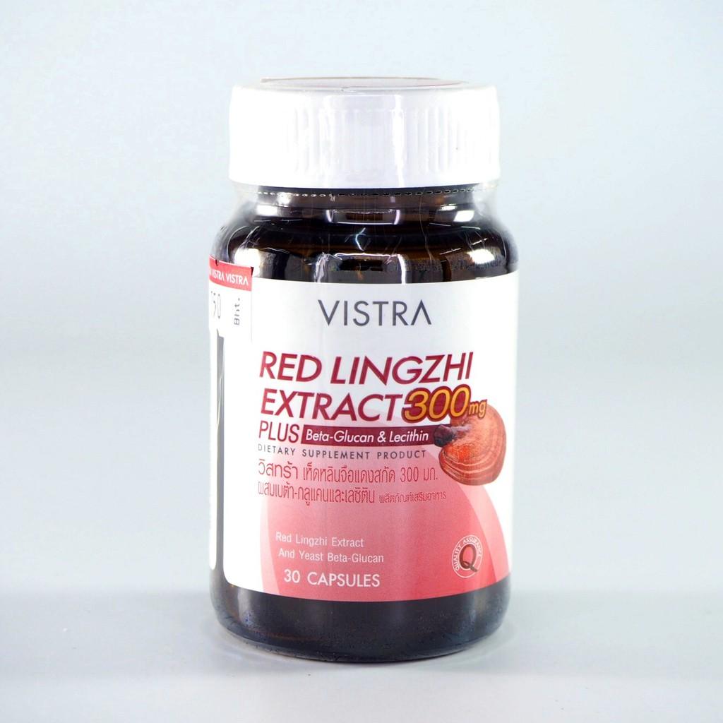 Vistra Red Lingzhi 300 mg Plus Beta Glucan 30 เม็ด