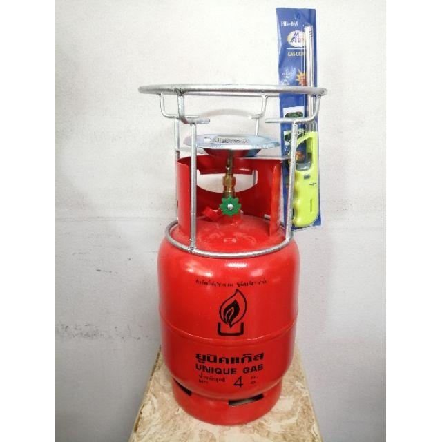 ส่งด่วน1-2วันถังแก๊สปิคนิค ยี่ห้อยูนิคแก๊ส ขนาด4กก. พร้อมโครงตั้งเตา เป็นถังเปล่า ไม่มีน้ำแก๊สในถัง