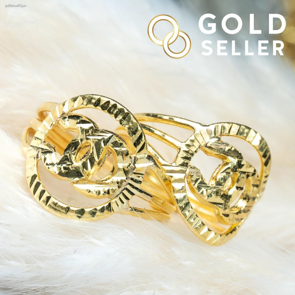 ราคาต่ำสุด✼◎Goldseller แหวนทอง ครึ่งสลึง OC ทองคำแท้ 96.5%