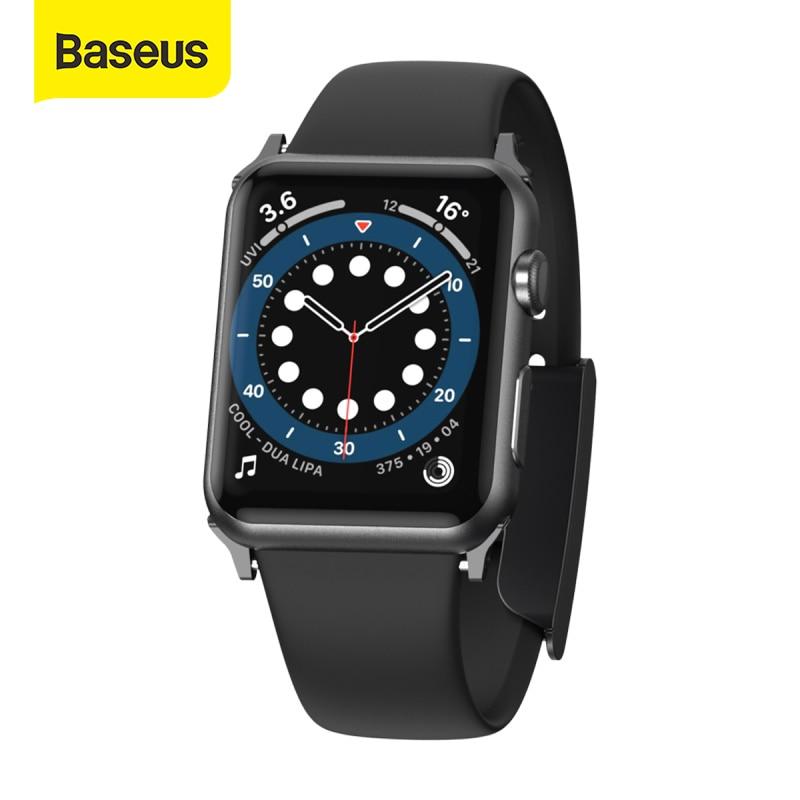 Baseus Watch Strap For Apple Watch Soft Silicone Band for Apple Watch 6 Series SE 6 5 4 3 42mm/38mm/44mm/40mmx Band Brac