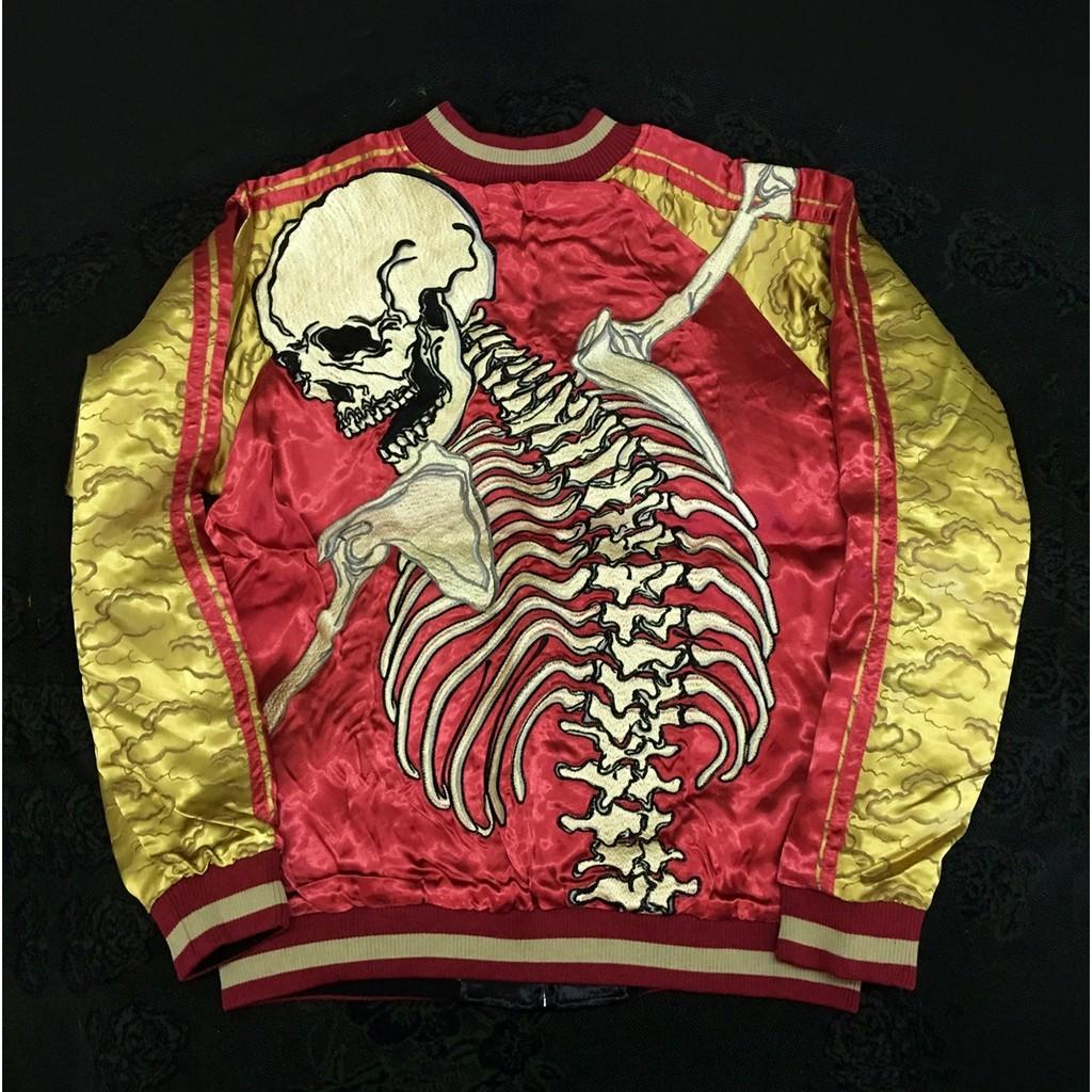 รายละเอียดสินค้า  SUKAJAN พรีเมียมเกรด  Japanese Souvenir Jacket  แจ็คเกตซูกาจัน skeleton