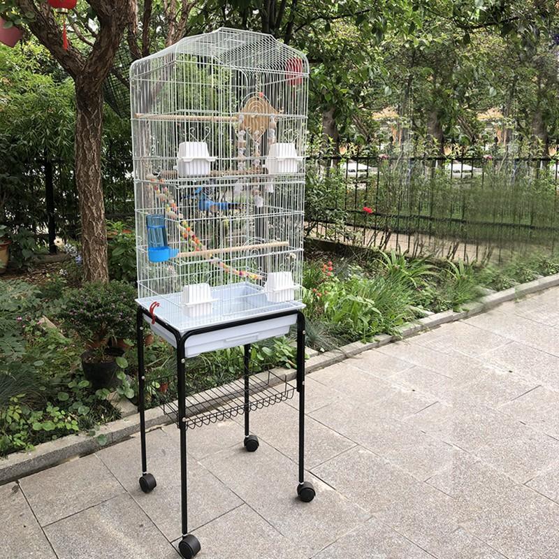 ✜♗✓ใหม่กรงนกขนาดใหญ่ Myna Xuanfeng budgerigar กรงนกวิลล่าหรูขนาดใหญ่กล่องเพาะพันธุ์นกเหล็กดัด