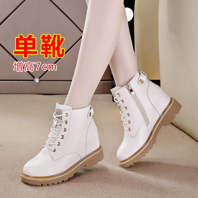 รองเท้าส้นสูง หัวแหลม ส้นเข็ม ใส่สบาย New Fshion รองเท้าคัชชูหัวแหลม  รองเท้าแฟชั่นเพิ่มด้านในรองเท้ามาร์ตินผู้หญิงฤดูใบ