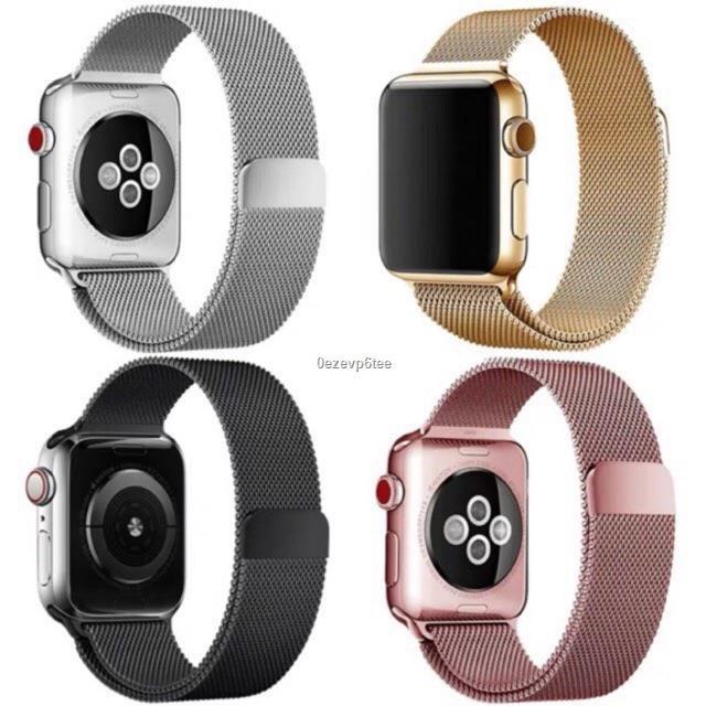ราคาขายส่ง▩สายเปลี่ยนนาฬิกาข้อมือ AppleWatch Band Milanese Loop Series 1 2 3 4 5 6 SE 44 มม 40 38 42 สาย
