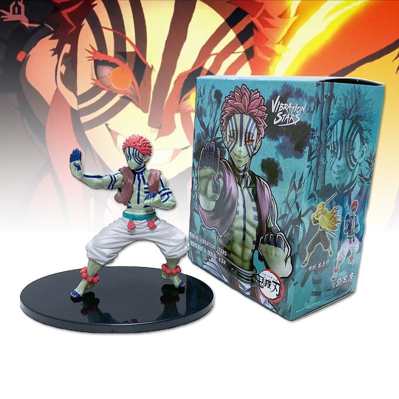 Q Demon Slayer Figure Toys Akaza Model Ornaments PVC Collectible Anime Action Character Model
