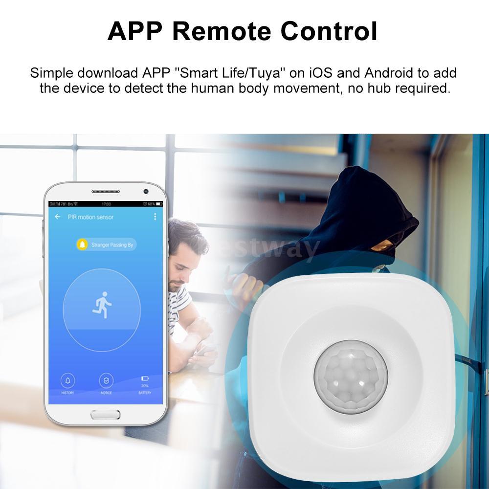 WIFI PIR Motion Sensor Wireless Passive Infrared Detector Security Burglar  Alarm Sensor Tuya APP Control Compatible with