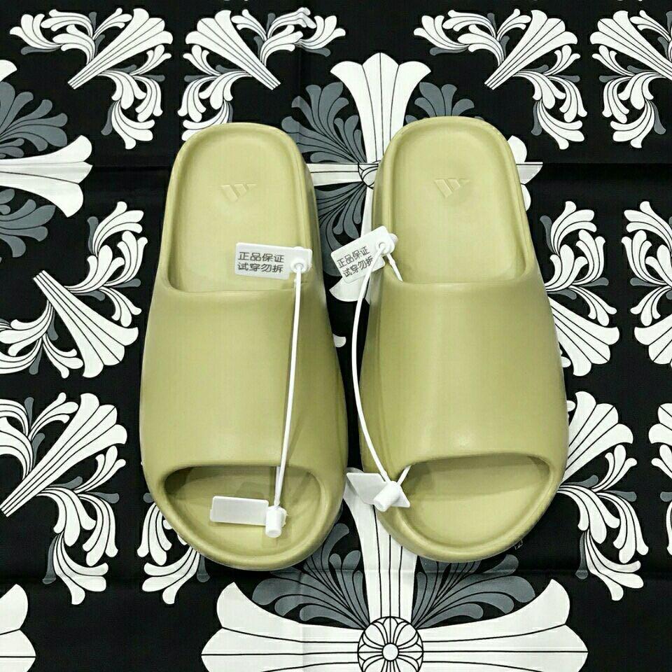 Adidas Yeezy Slide Bone รองเท้าผ้าใบลําลองสําหรับผู้ชายผู้หญิงสีขาวเหมาะกับการเล่นกีฬา