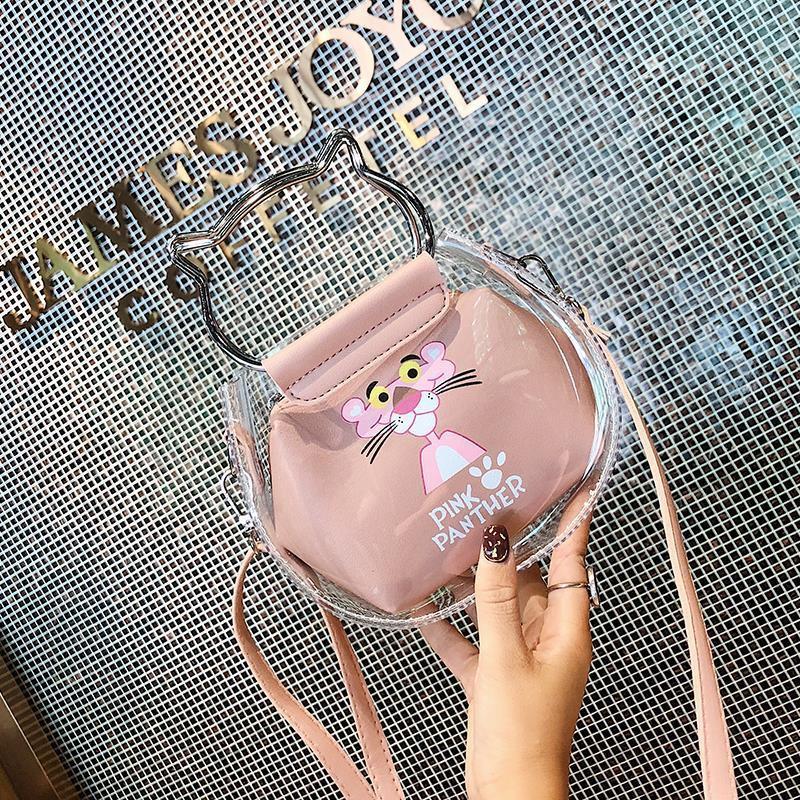 ใหม่เด็กกระเป๋าโปร่งใสการ์ตูนกระเป๋า messenger น่ารักเจ้าหญิงสาวกระเป๋าสะพายป่าเด็กกระเป๋าเดินทางที่เดินทางมาพักผ่อน