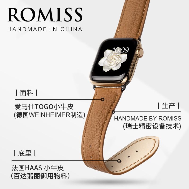สายนาฬิกาข้อมือหนังสําหรับ Iwatch 6 Applewatch Se
