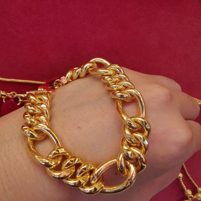  สร้อยมือทอง 96.5%  น้ำหนัก 3 บาท ยาว 20cm ราคา 89,200บาท