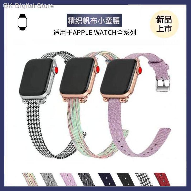 【อุปกรณ์เสริมของ applewatch】₪สายรัด Applewatch ที่ใช้งานได้สายนาฬิกา iwatch 5/4/3 รุ่น 6SE ผ้าใบ houndstooth สายนาฬิก