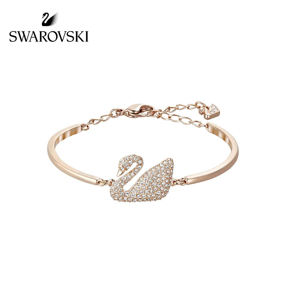 Swarovski Swan Dazzling สร้อยข้อมือจี้รูปหงส์เครื่องประดับ