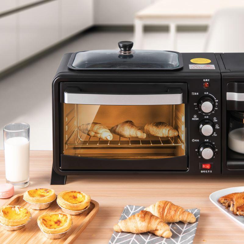 เครื่องปิ้งขนมปังเครื่องปิ้งขนมปังอัตโนมัติเครื่องปิ้งขนมปังอเนกประสงค์เครื่องทำกาแฟ