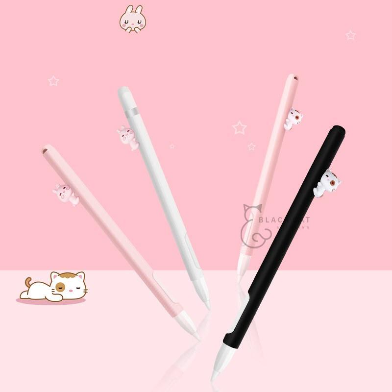 โค้ดลด10% Apple pencil Case 2in1 (Gen2) ปลอกปากกา รูปการ์ตูน apple pencil เคสซิลิโคน กันหาย Apple Pencil Case เคสปากกา