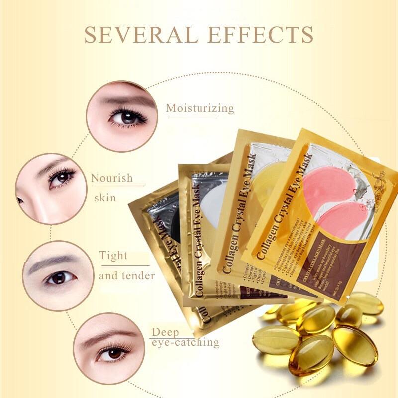Collagen Crystal Eye Mask มาร์คตาแผ่นทองคำ สูตรคอลลาเจน
