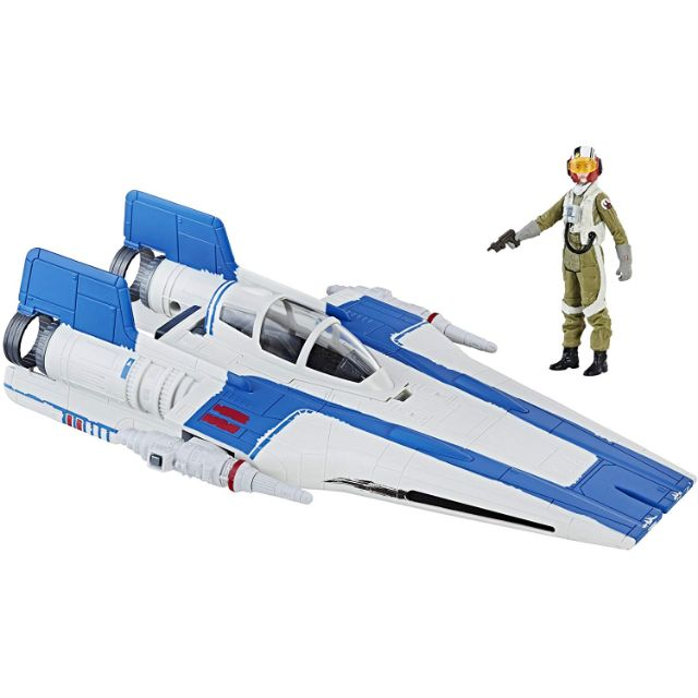Star Wars Force Link Résistance A-Wing Fighter with 3.75 inch figure new in box