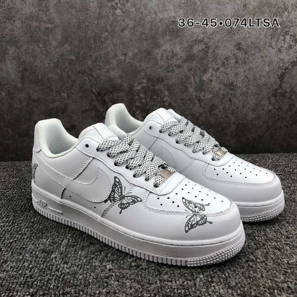 รองเท้าผ้าใบลำลอง Nike Air Force 1'07 Air Force One 3M สะท้อนแสงต่ำสุด