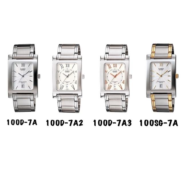 จัดส่งฟรีCasio แท้ นาฬิกาผู้ชาย สายสแตนเลส BEM-100D BEM-100SG รับประกัน 1ปี BEM100D, BEM100SG, BEM100