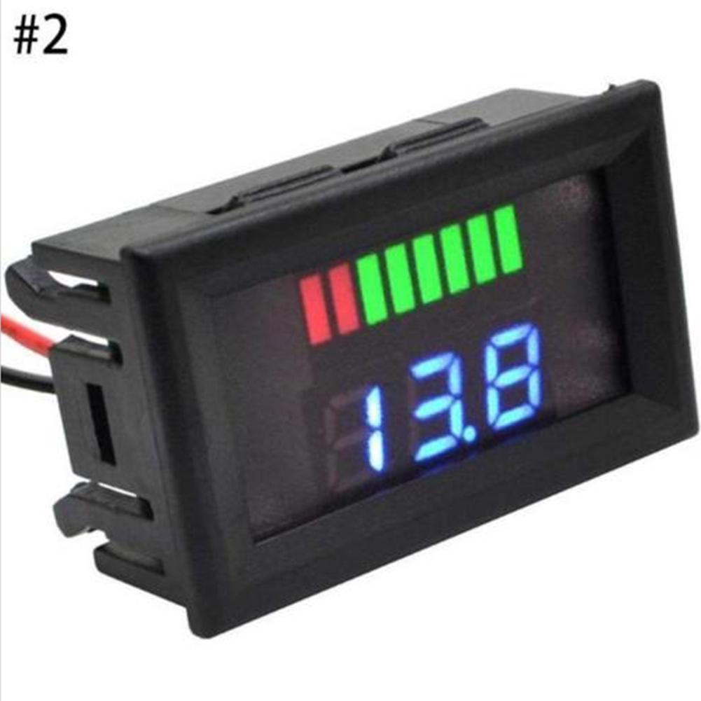 12V-24V Car Motorcycle LED Digital Display Voltmeter Waterproof Meter RED UK