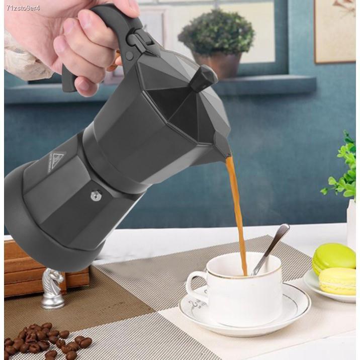 ✣หม้อต้มกาแฟสดแบบไฟฟ้า เครื่องทำกาแฟ มอคค่าพอทไฟฟ้า หม้อต้มชากาแฟ หม้อ Moka pot ไฟฟ้า