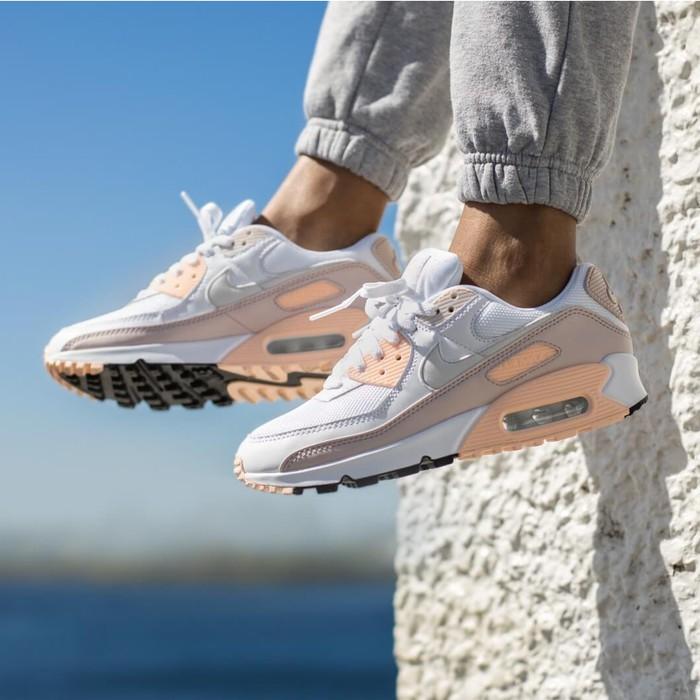 Nxike Airmax 90 รองเท้าผ้าใบสีขาว