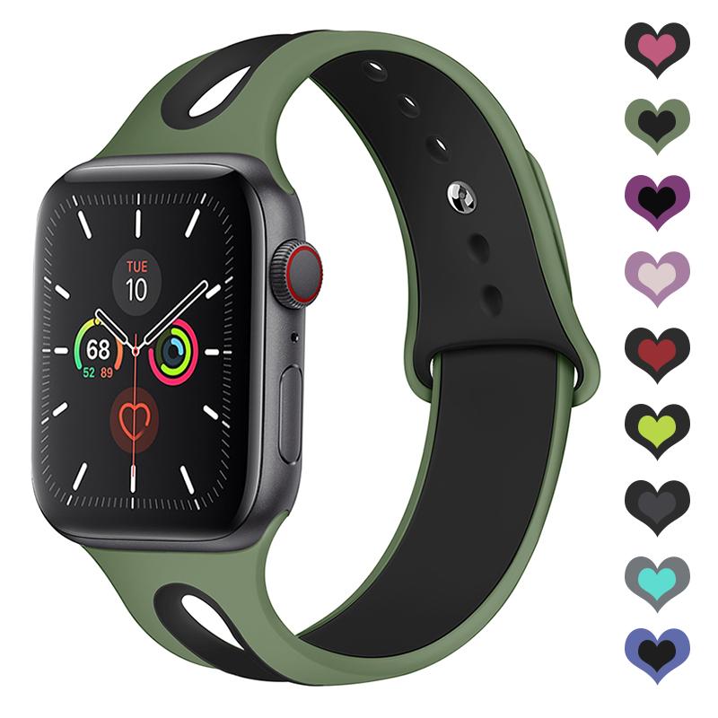 Apple Watch Strap Apple Watch Band  42mm 38mm 44mm 40mm Silicone Iwatch Bands Strap For Apple Watch SE Series 6/5/4/3/2/