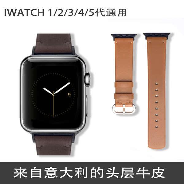 สาย applewatch สาย applewatch6 เหมาะสำหรับ Apple watch iwatchSE12345 รุ่นสายหนังอิตาลีชายและหญิง