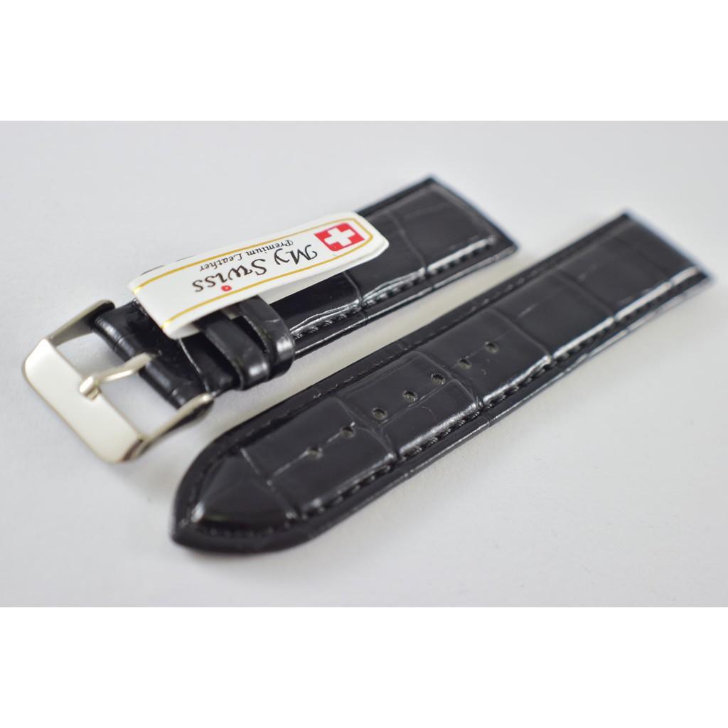 สาย applewatch สาย applewatch แท้ สายนาฬิกา ขนาด 22 mm. ลายจรเข้ สีดำ ผลิตจากหนัง PU เกรด A
