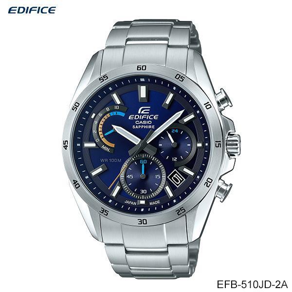 Casio Edifice Chronograph นาฬิกาข้อมือผู้ชาย สายสแตนเลส รุ่น EFB-510JD-2A EFB-510JDB-7A (Made in Japan)