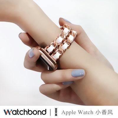 Νㇶสายนาฬิกา Apple Watch se/ 6/5/4/รุ่น3/2สายนาฬิกาน้ำหอมขนาดเล็กหรูหราเบาๆ applewatch สายนาฬิกาแฟชั่น Series อินเทรนด์สา