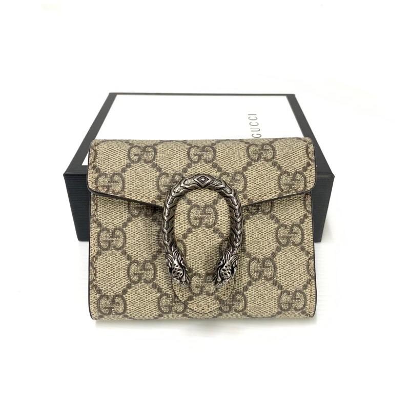 *กระเป่า*Gucci Dionysus Wallet Tri-fold กระเป๋าสตางค์ ของแท้ ส่งฟรี EMS ทั้งร้าน