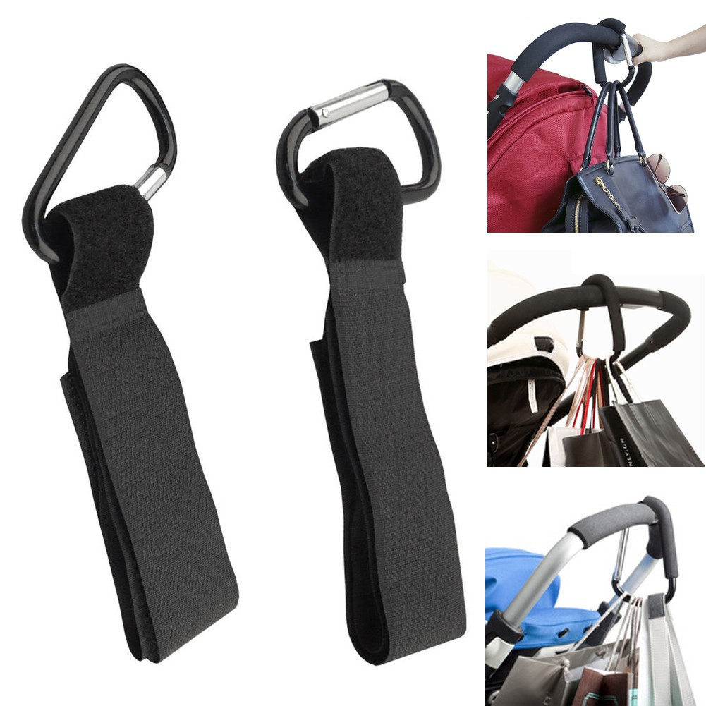 2pcs Pram Hook Buggy Clips Universal Secure Buggy Stroller Pushchair Clips