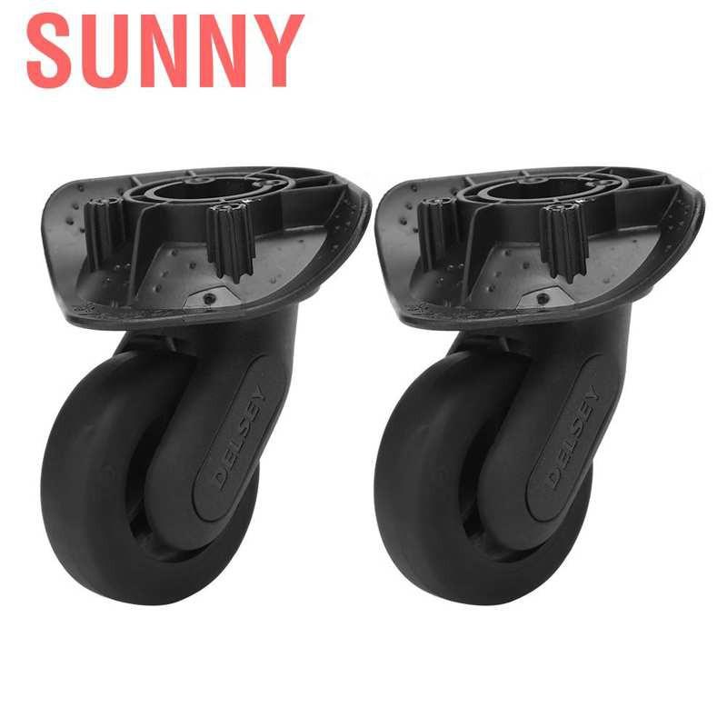 Sunny กระเป๋าเดินทางแบบมีล้อลากสีดํา 1 คู่