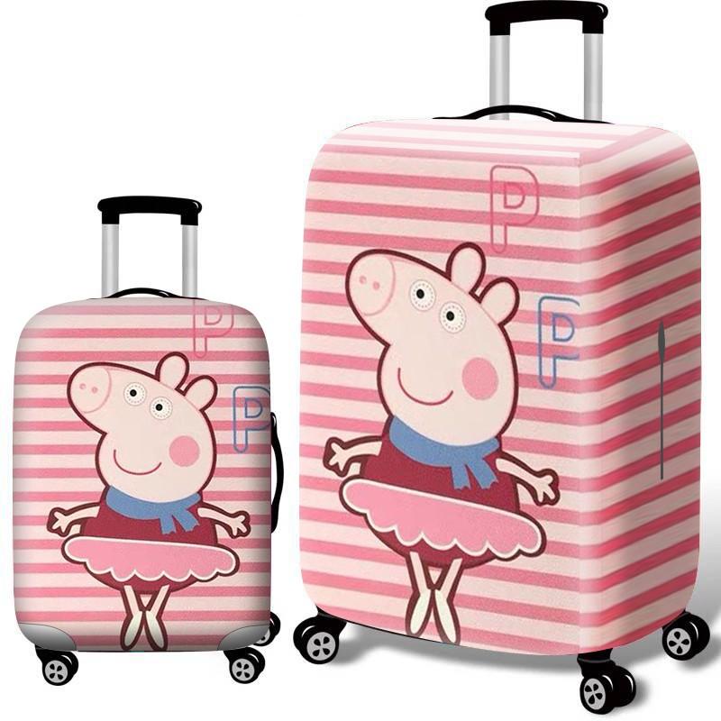 ผ้าคลุมกระเป๋าเดินทาง ปลอกหุ้มกระเป๋าเดินทางผ้ายืดหนาทนทานต่อการสึกหรอกระเป๋าเดินทางรถเข็นเคสฝาปิดกันฝุ่น 20/24/28 นิ้วก