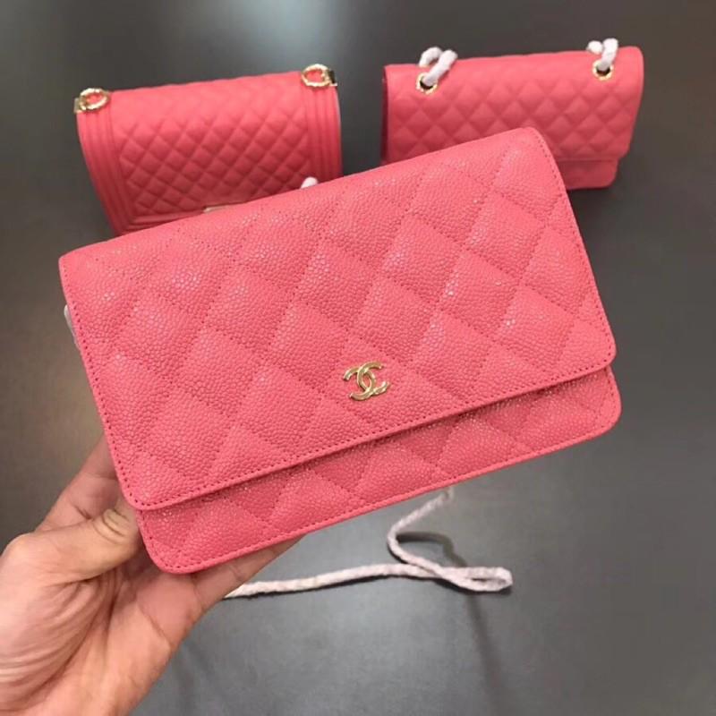 Chanel woc Crystal Peach Powder ฟอร์จูนแพ็คเกจ 19 ซม.